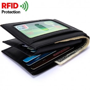 Anti-RFID Leather Wallet -...