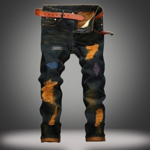 Straight cut jean pants for...