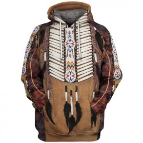 3D Indian style hoodie -...