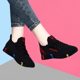 Women's black mesh sneakers...